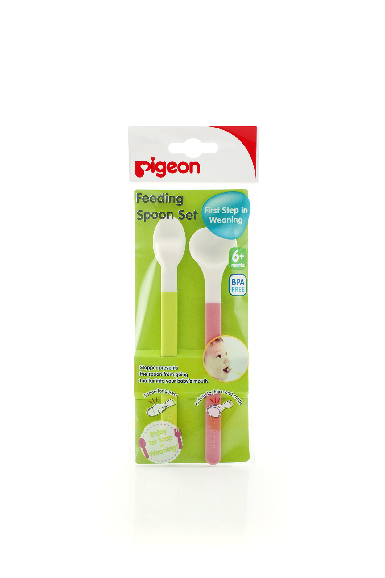 Pigeon Silicone Feeding Spoon Weaning Set BPA Free